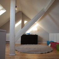 Laying out a playroom in the attic